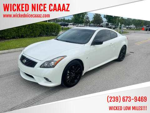 2015 Infiniti Q60 Coupe for sale at WICKED NICE CAAAZ in Cape Coral FL