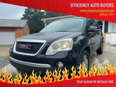 2011 GMC Acadia for sale at Efficiency Auto Buyers in Milton GA
