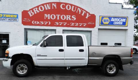 2003 GMC Sierra 2500HD for sale at Brown County Motors in Russellville OH