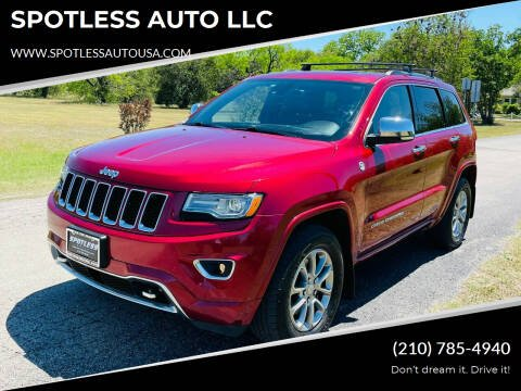 2014 Jeep Grand Cherokee for sale at SPOTLESS AUTO LLC in San Antonio TX