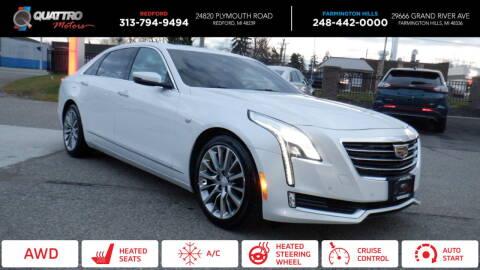 2018 Cadillac CT6 for sale at Quattro Motors 2 - 1 in Redford MI