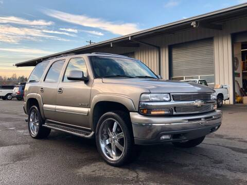 2002 Chevrolet Tahoe for sale at DASH AUTO SALES LLC in Salem OR