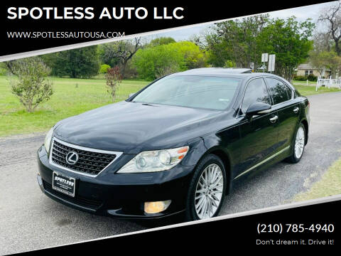 2010 Lexus LS 460 for sale at SPOTLESS AUTO LLC in San Antonio TX