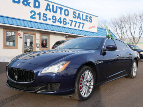 2015 Maserati Quattroporte for sale at B & D Auto Sales Inc. in Fairless Hills PA