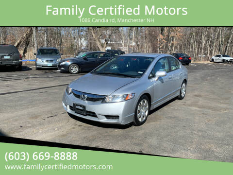 2011 Honda Civic for sale at Family Certified Motors in Manchester NH