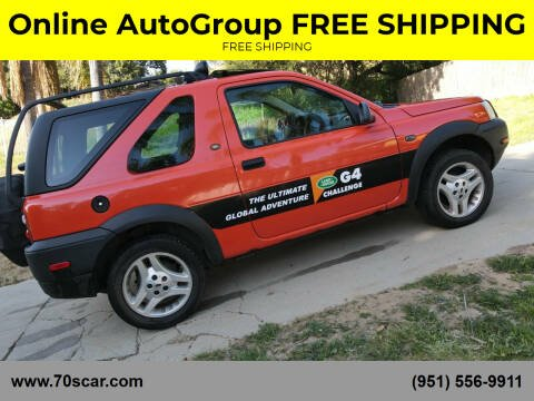 2003 Land Rover Freelander for sale at Online AutoGroup FREE SHIPPING in Riverside CA