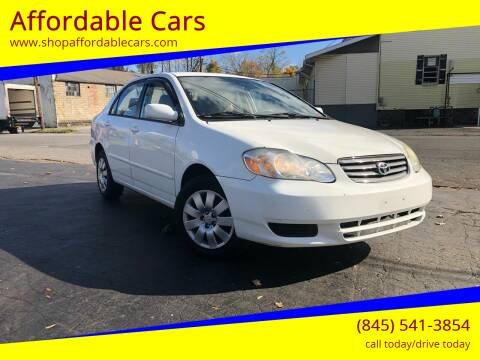 2003 Toyota Corolla for sale at Affordable Cars in Kingston NY