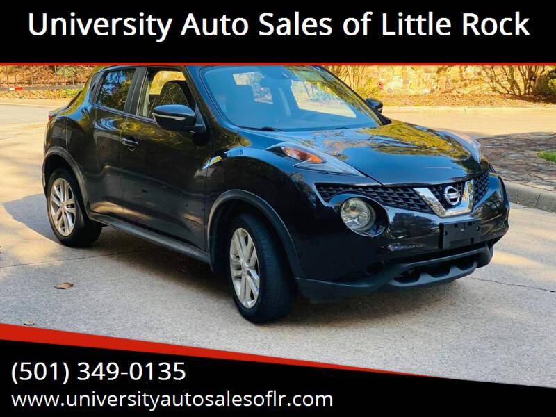 2015 Nissan JUKE for sale at University Auto Sales of Little Rock in Little Rock AR