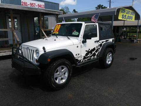 2009 Jeep Wrangler for sale at Texas 1 Auto Finance in Kemah TX
