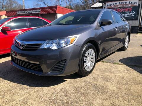 2014 Toyota Camry for sale at DUNCAN AUTO SALES, INC in Cartersville GA