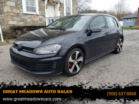 2016 Volkswagen Golf GTI for sale at GREAT MEADOWS AUTO SALES in Great Meadows NJ