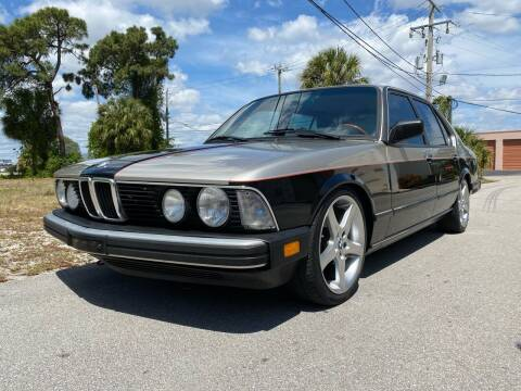 1985 BMW 7 Series for sale at American Classics Autotrader LLC in Pompano Beach FL
