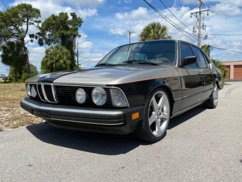 1985 BMW 7 Series for sale at American Classics Autotrader LLC in Pompano Beach FL