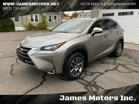 2015 Lexus NX 200t for sale at James Motors Inc. in East Longmeadow MA