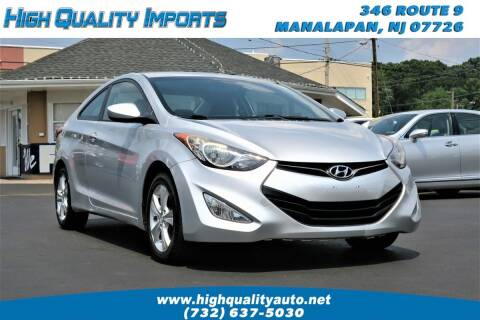2013 Hyundai Elantra Coupe for sale at High Quality Imports in Manalapan NJ