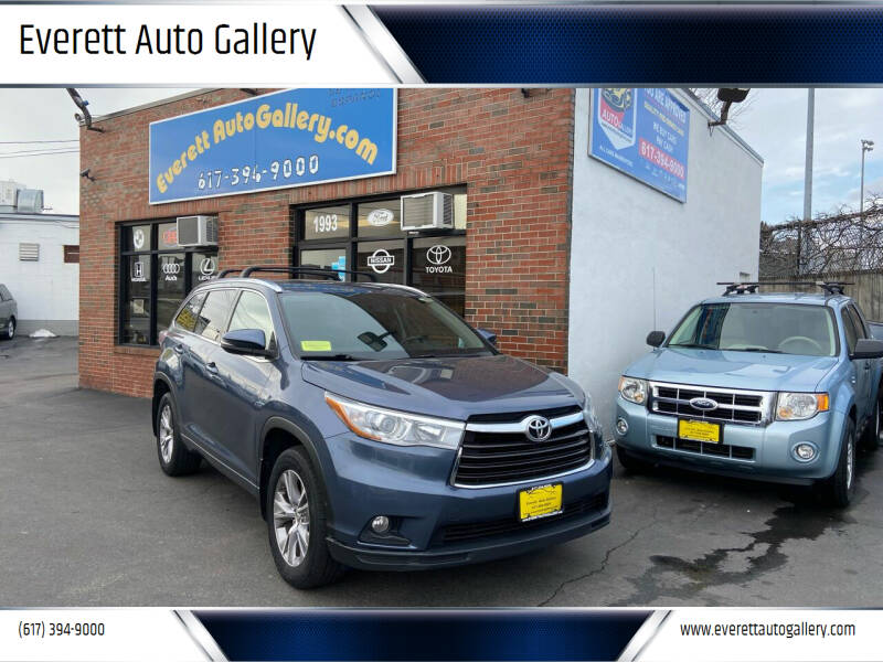 2015 Toyota Highlander for sale at Everett Auto Gallery in Everett MA