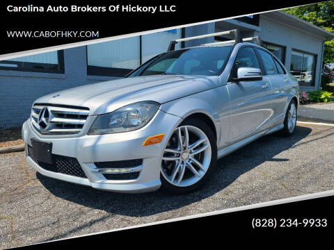 2012 Mercedes-Benz C-Class for sale at Carolina Auto Brokers of Hickory LLC in Newton NC