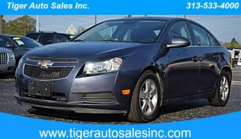 2014 Chevrolet Cruze for sale at TIGER AUTO SALES INC in Redford MI