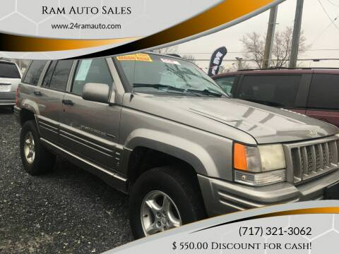 1998 Jeep Grand Cherokee for sale at Ram Auto Sales in Gettysburg PA
