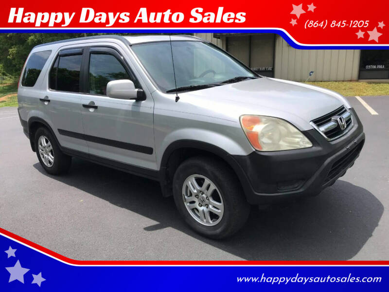 2004 Honda CR-V for sale at Happy Days Auto Sales in Piedmont SC