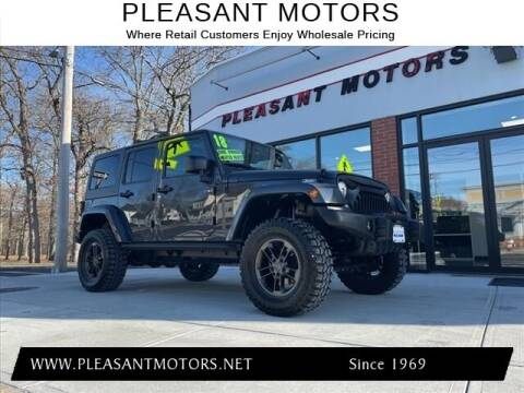 2018 Jeep Wrangler JK Unlimited for sale at Pleasant Motors in New Bedford MA
