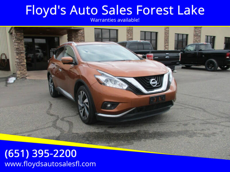 2016 Nissan Murano for sale at Floyd's Auto Sales Forest Lake in Forest Lake MN