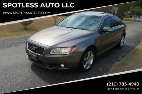2008 Volvo S80 for sale at SPOTLESS AUTO LLC in San Antonio TX