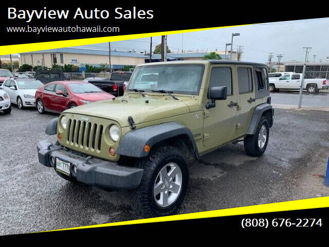 2013 Jeep Wrangler Unlimited for sale at Bayview Auto Sales in Waipahu HI