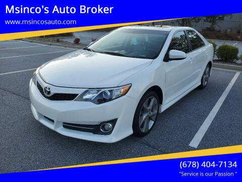 2012 Toyota Camry for sale at Msinco's Auto Broker in Snellville GA