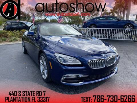 2017 BMW 6 Series for sale at AUTOSHOW SALES & SERVICE in Plantation FL