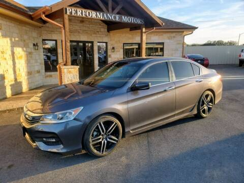 2017 Honda Accord for sale at Performance Motors Killeen Second Chance in Killeen TX