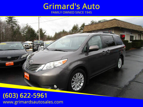 2014 Toyota Sienna for sale at Grimard's Auto in Hooksett, NH