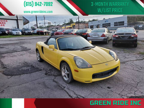 2001 Toyota MR2 Spyder for sale at Green Ride Inc in Nashville TN