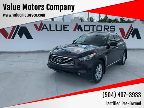 2011 Infiniti FX35 for sale at Value Motors Company in Marrero LA