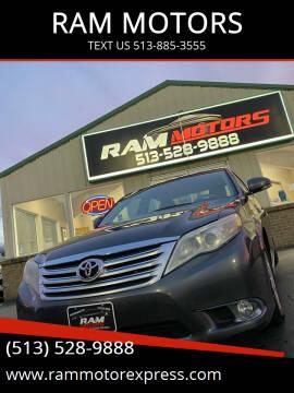 2011 Toyota Avalon for sale at RAM MOTORS in Cincinnati OH