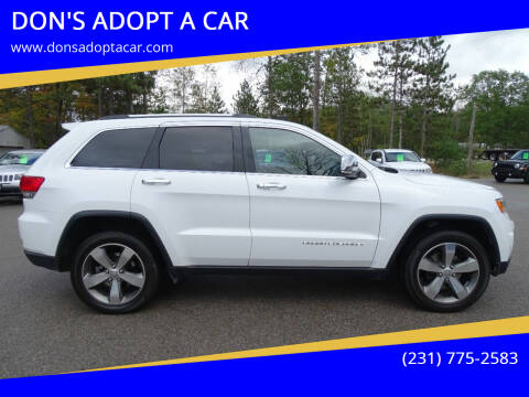 2016 Jeep Grand Cherokee for sale at DON'S ADOPT A CAR in Cadillac MI