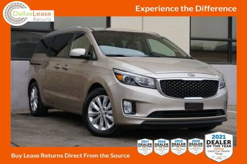 2015 Kia Sedona for sale at Dallas Auto Finance in Dallas TX