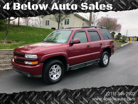 2005 Chevrolet Tahoe for sale at 4 Below Auto Sales in Willow Grove PA