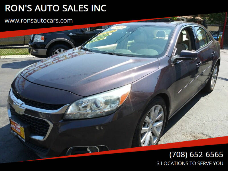 2015 Chevrolet Malibu for sale at RON'S AUTO SALES INC in Cicero IL