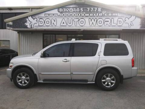 2004 Infiniti QX56 for sale at Don Auto World in Houston TX