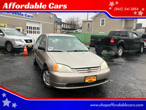 2002 Honda Civic for sale at Affordable Cars in Kingston NY