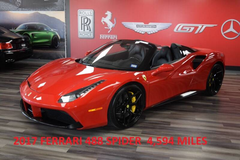 2017 Ferrari 488 Spider for sale at Icon Exotics in Houston TX