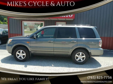 2008 Honda Pilot for sale at MIKE'S CYCLE & AUTO in Connersville IN