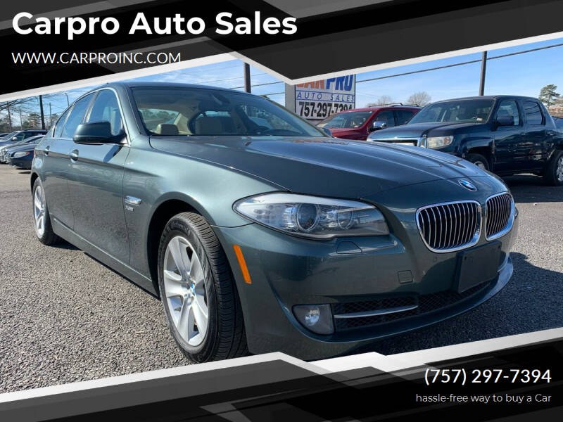 2012 BMW 5 Series for sale at Carpro Auto Sales in Chesapeake VA