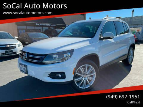 2012 Volkswagen Tiguan for sale at SoCal Auto Motors in Costa Mesa CA