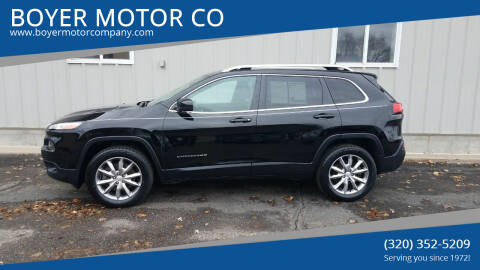 2017 Jeep Cherokee for sale at BOYER MOTOR CO in Sauk Centre MN