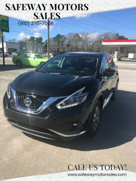 2018 Nissan Murano for sale at Safeway Motors Sales in Laurinburg NC