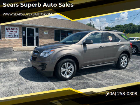 2012 Chevrolet Equinox for sale at Sears Superb Auto Sales in Corbin KY