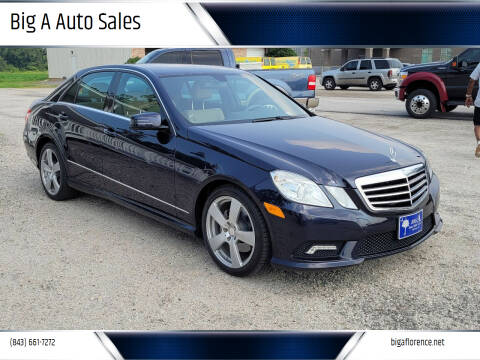 2011 Mercedes-Benz E-Class for sale at Big A Auto Sales Lot 2 in Florence SC