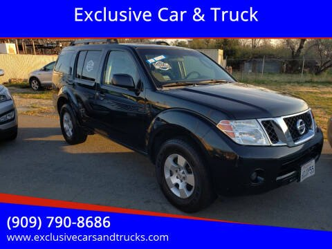 2008 Nissan Pathfinder for sale at Exclusive Car & Truck in Yucaipa CA